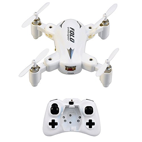 RC Drone with Headless System,Mini Foldable RC Quadcopter Drone with 6-Axis Gyro,Remote Control Quadcopter with Flashing Light,RC Helicopter Drone One key Return(White)