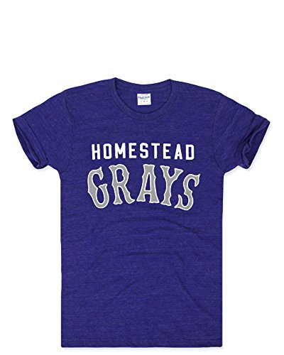 Charlie Hustle Unisex Negro League Homestead Grays T-Shirt S Heather Navy