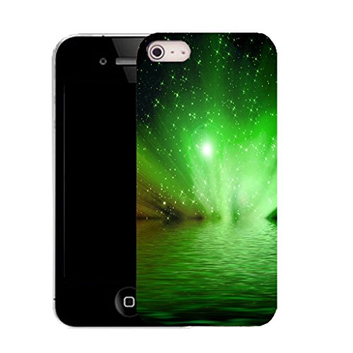 Mobile Case Mate IPhone 4s clip on Silicone Coque couverture case cover Pare-chocs + STYLET - GREEN WATER pattern (SILICON)