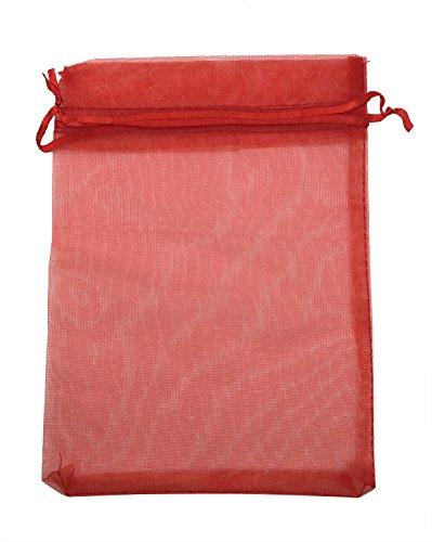 (SUNGULF 50pcs Organza Pouch Bag Drawstring 5