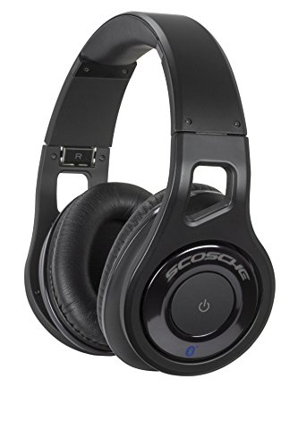 - SCOSCHE Reference Grade Wireless Bluetooth Over-Ear Foldable Lightweight Headphones with Included Carrying Case - 40mm Realm Audio Drivers with Built-In Mic and Track Controls - Black (RH1060)