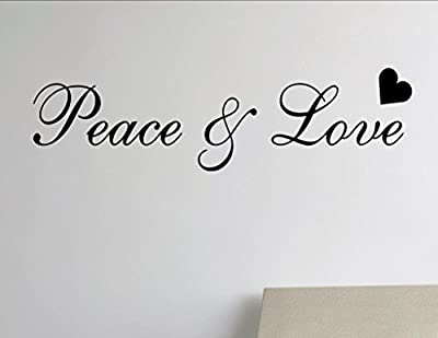 Peace and Love Vinyl Wall Saying Quote Words Decal - Vinyl Quote Me