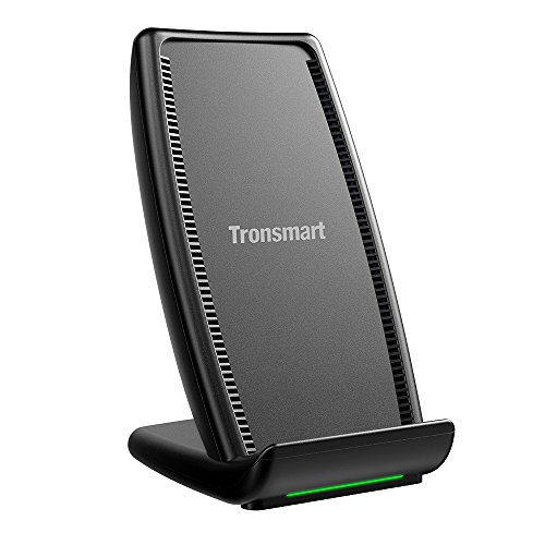 Coil Dual (iPhone X Wireless Charger,Tronsmart AirAmp Dual Coil Fast Wireless Charger with Fan, Type-C Port Charging Stand for iPhone 8/8 Plus & iPhone X and Samsung Galaxy series)