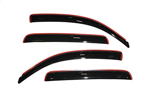 Auto Ventshade 194056 In-Channel Ventvisor Side Window Deflector, 4-Piece Set for 2005-2015 Toyota Tacoma Double Cab (Rain Guard Visors)