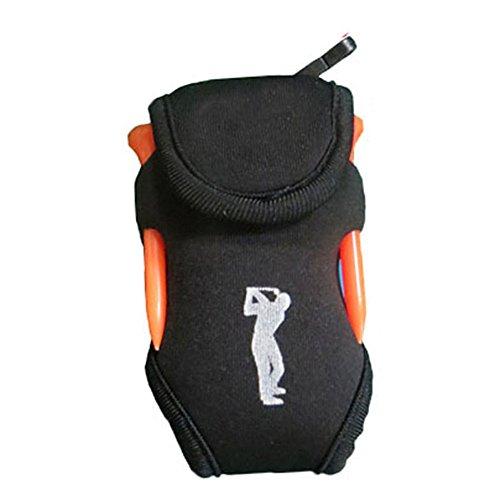 YOTHG Multifunctional Portable Golf Ball Storage Sack,Golf Ball Holder, Mini Waist Bag, Outdoor Sports Tool(Black)