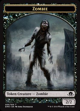 - Magic: the Gathering - Zombie Token (005) - Eldritch Moon