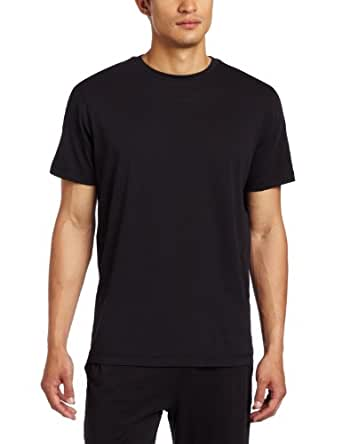 Daniel Buchler Men's Peruvian Cotton Crew Lounge Top, Black, Small