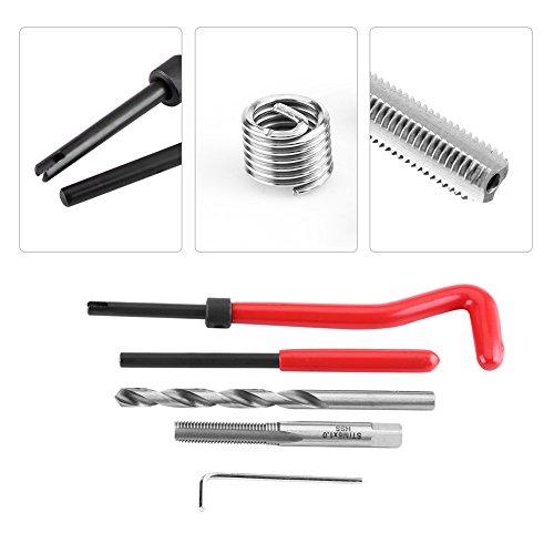 25pcs M6 × 1.0 × 8.0mm Helicoil Thread//Rethread Repair Kit HSS Thread Set