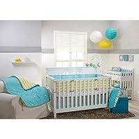 LITTLE Bedding by NoJo Twinkle Twinkle 4-Piece Baby Boy BabyGirl Crib Bedding...