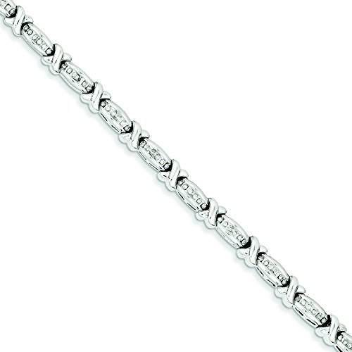 Argent Sterling diamant X JewelryWeb-Bracelet