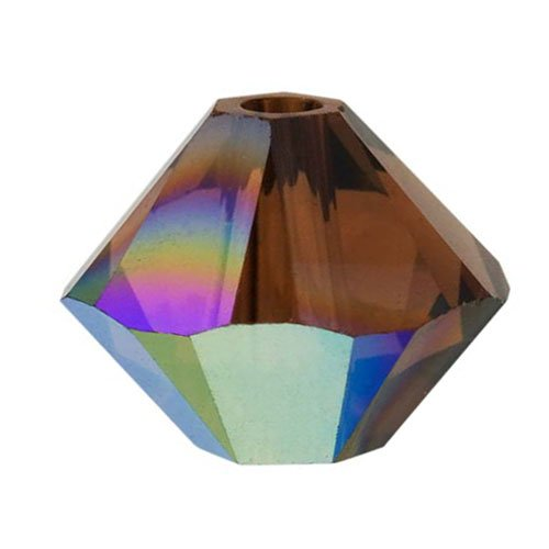 Swarovski Crystal, 5328 Bicone Beads 3mm, 25 Pieces, Smoked Topaz (Smoked Topaz Swarovski Crystal Beads)