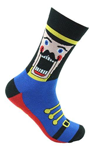 Gertex Mens Christmas Holiday Crew Socks (Nutcracker) 7 - 12 US Shoe ()
