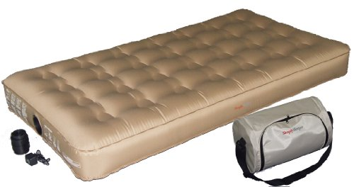 SimplySleeper SS-SNG47T Premium Twin Airbed w/ Built-in Rechargeable Pump (Puncture and Stretch Resistant!) – Best material in the market!, Outdoor Stuffs