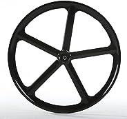 Solomone Cavalli SC Fixed Gear 700c Tri Spoke 5-Spoke Rim Front Rear Single Speed Fixie Bicycle Wheel Set