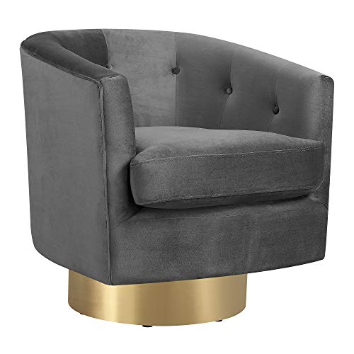 Abbey Avenue A-GWE-288SWG Gwen Swivel Accent Chair, Slate
