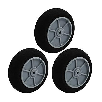 3pcs RC plano modelo plástico del eje de aterrizaje Esponja del neumático rueda de 50mm 2 - - Amazon.com