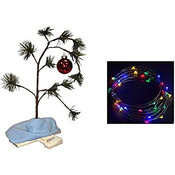 Amazon Com Charlie Brown Christmas Tree With Blanket 24