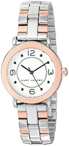 Marc Jacobs Women's 'Riley' Quartz Stainless Steel Casual Watch, Color:Two Tone (Model: MJ3540)