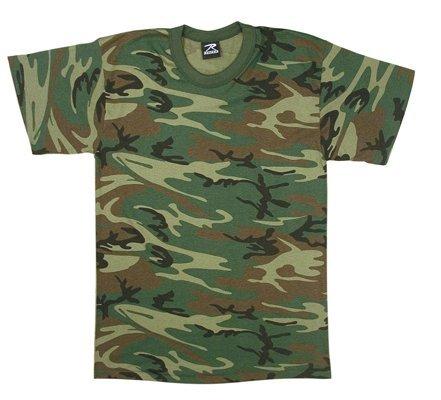 Rothco Kids T-Shirt, Woodland Camo, Small