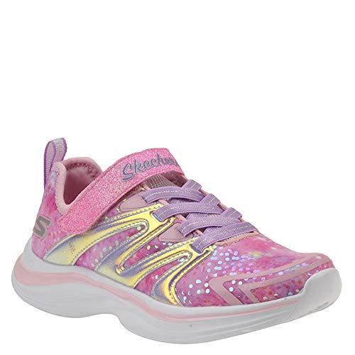 Skechers Kids Girl's Double Dreams-Unicorn Wishes Shoe, Pink/Gold, 11 Medium US Little Kid ()