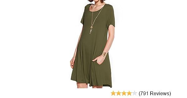 Amazoncom Jollielovin Womens Pockets Casual Swing Loose T Shirt