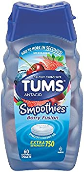60-Count TUMS Smoothies Chewable Tablets for Heartburn Relief