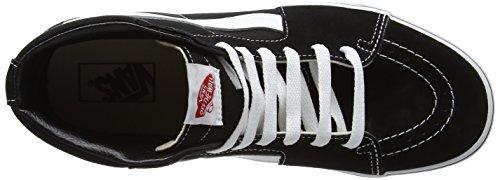 Varevogne Sk8-hi Unisex Afslappet High-top Skate Sko, Komfortable Og Holdbare I Signatur Vaffel Gummi Sål Sort / Hvid