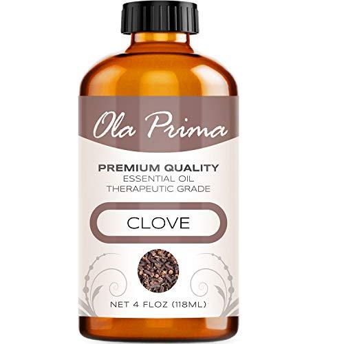 Ola Prima 4oz Premium Quality Clove Essential Oil 4 Ounce Bottle Therapeutic Grade Clove Oil