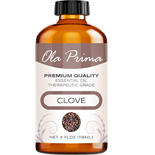 - 4oz - Premium Quality Clove Essential Oil (4 Ounce Bottle with Dropper) Therapeutic Grade Clove Oil