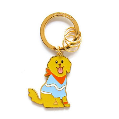 Cute Puppy Dog Golden Retriever Keychain Alloy Key Ring for Handbag Wallet Purse Ornaments Car Accessories ()