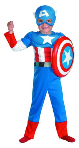 Amazon.com  Marvel Captain America Toddler Muscle Costume d7dc4ffbda90