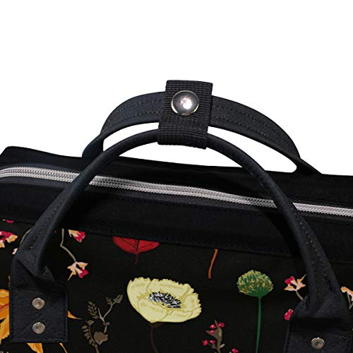 Women Multi3 Cute Backpack Muti Cat Draw Bag Large Mummy for Function Capacity Travel Bag Canvas SxwRxO6q