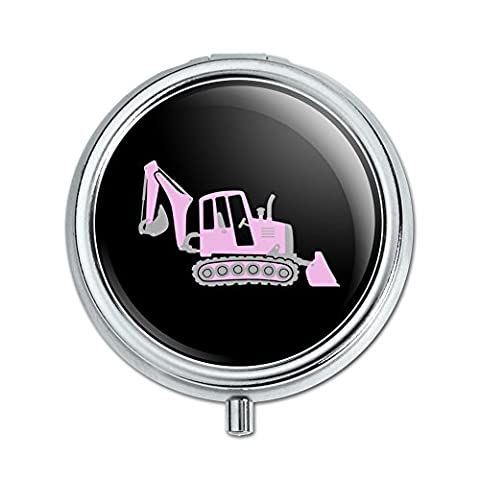 Pink Digger Backhoe Tractor Front End Loader Pill Case Trinket Gift Box - Case Front End Loaders