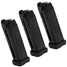 Airsoft Gear Parts Accessories APS 3pcs 23rd Co2 Mag Magazine for D-Mod Pistol Airsoft Black