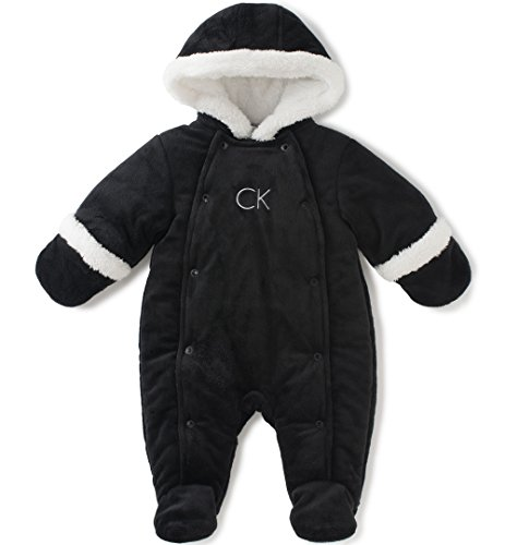 Calvin Klein Baby Pram With Snap Opening, Black, 0-3 Months