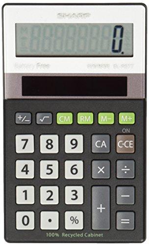 Sharp Electronics Elr277bbk 8 Digit Recycled Plastic Cabinet Calculator   Black