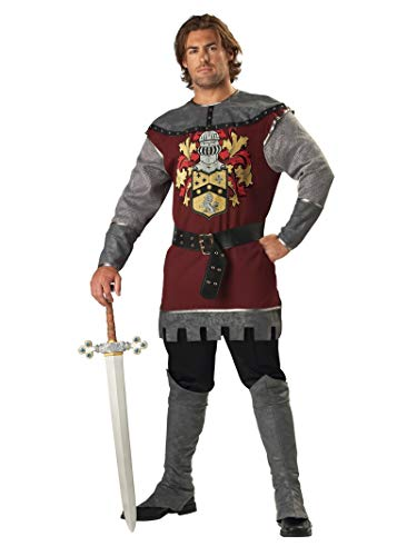 Knight Costumes For Adults (InCharacter Costumes Men's Noble Knight Costume, Silver/Burgundy,)