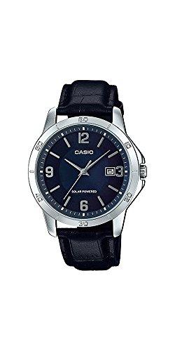 41IeZ JnRLL - Casio MTP-VS02L-2A Men's Standard Solar Leather Band Blue Dial Date Watch
