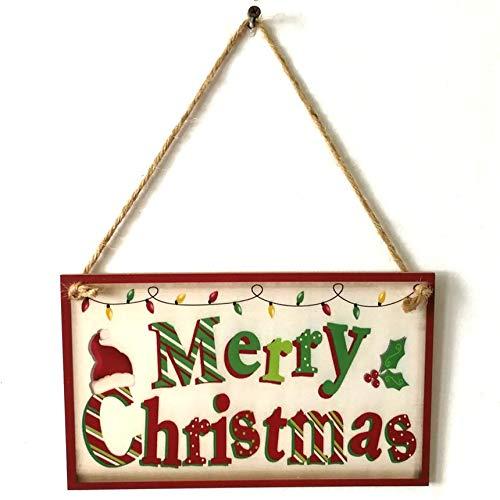 FinukGo Cartel Colgante de Puerta Feliz Navidad Tablero de ...