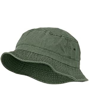 Big Size Washed Hat – Olive (For Big Head)