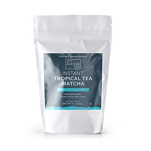 10th Avenue Tea Authentic Premium Instant Japanese Green Tea Matcha Powder (Tropical Matcha)- 8 oz. No Sugar, No Carbs, No Calories