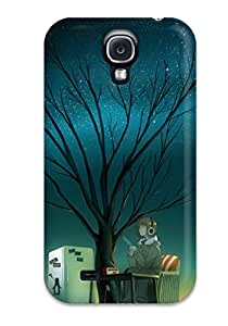 Galaxy S4 DQphDHl6815HMHFE Headphones Trees Night Stars Coffee Radio Scenic Anime Tpu Silicone Gel Case Cover. Fits Galaxy S4