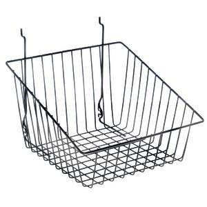 Black Tapered Slatwall Baskets 12 x 12 x 8