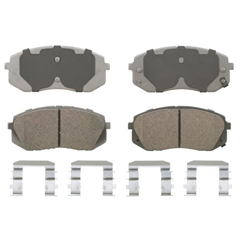 Wagner ThermoQuiet QC1295A Ceramic Disc Pad Set With Installation Hardware, Front - Kia Sportage Parking Brake