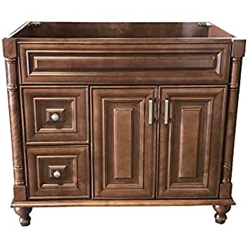 Maple Walnut solid wood Single Bathroom Vanity Base Cabinet 36