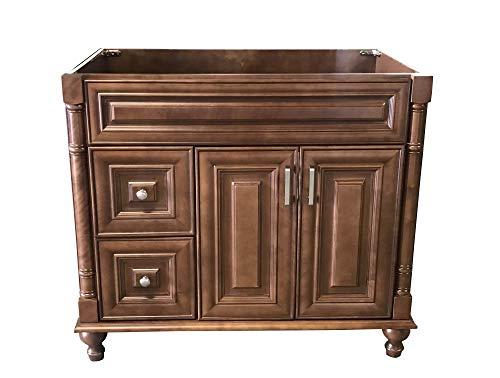 Maple Walnut solid wood Single Bathroom Vanity Base Cabinet 36