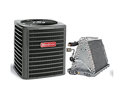 "Goodman 2.5 Ton 13 SEER AC with Uncased Upflow/Downflow Coil 13"" wide GSX130301CAUF3636A6 - With 3/8""x3/4""x35' lineset"