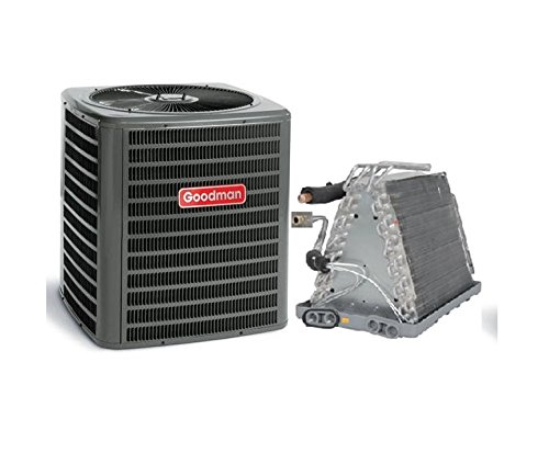 Goodman 2.5 Ton 13 SEER AC with Uncased Upflow/Downflow Coil 16.5