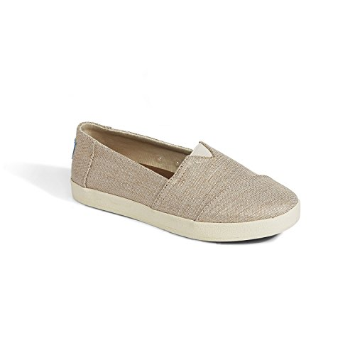 74d5b45dd62 TOMS Women s 10006322 Black Coated Canvas Avalon  Fashion Sneaker by Toms