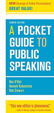 A Pocket Guide To Public Speaking Kindle Edition By O Hair Dan